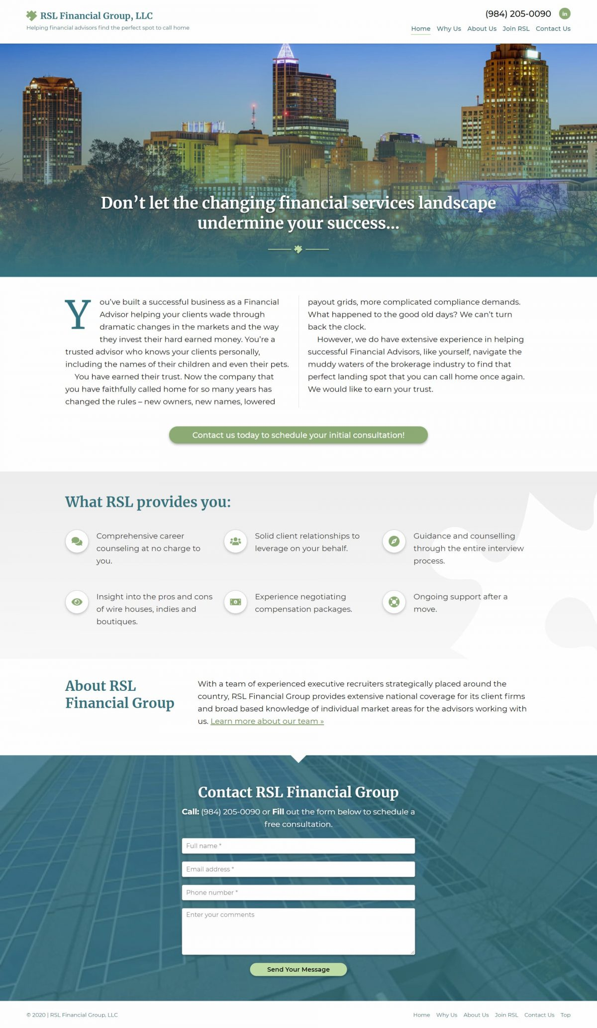 Financial Advisor Support Services